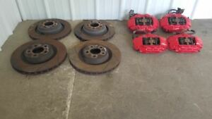 2006 2016 Dodge Charger Complete Set Red Brembo Srt8 Brake Calipers And Rotors