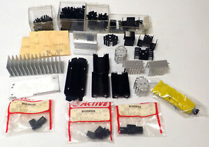 Assorted Lot Of Heat Sinks Transistor Can Style Op amp W Thermal Compound