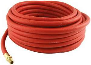 Allstar Performance 10527 Air Hose 3 8 Id 50 Ft Long Rubber Brass In Red