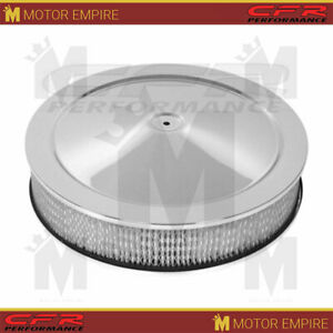 For Gm 14 Round Chrome Steel Air Cleaner Set Off Set Base With 5 1 8 Neck