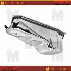 For 86 02 Chevy Small Block Oil Pan 305 350 383 Engine Chrome Steel