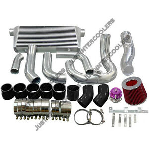 Cx 31x12x3 Intercooler Kit For 91 00 Lexus Sc300 2jz Gte 2jz Stock Twin Turbo