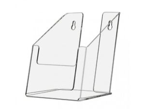 Pamphlet Holder Wall Mount Or Countertop For 5 5w Literature Clear Acrylic