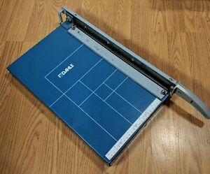 Vintage Dahle Guillotine Paper Cutter With Pressure Plate 10 X 14 Cutting Area