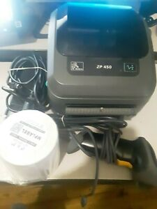 Zebra Zp450 Usb Thermal Label Barcode Printer yhd Barcode Scanner 250 4x6 Labels