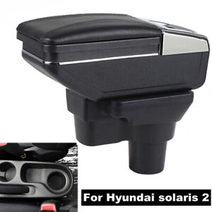 Armrest Console Storage Box For Hyundai Solaris 2 Accent Verna 2017 2018 Rest