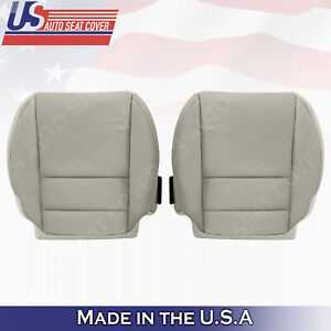 Driver Passenger Bottoms Perforated Leather Cover Gray For 2007 2012 Acura Mdx
