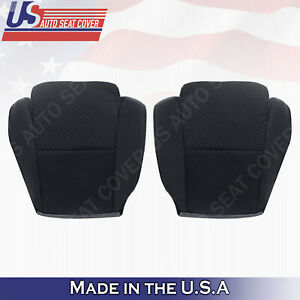 Driver Passenger Bottom Cloth Seat Cover Black For 2007 To 2012 Toyota Tundra