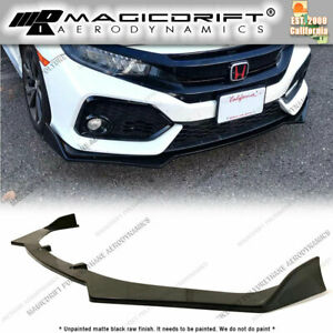 For 17 19 Honda Civic Hatchback Jdm Cs Style Front Bumper Lip Chin Splitter Aero