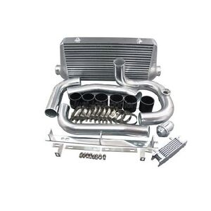 Cxracing 4 Core Intercooler Kit W Bov For 93 02 Toyota Supra Mkiv 2jz Gte