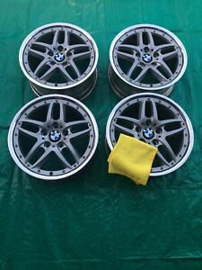 Bmw E46 E36 Z4 Style 71 Wheels Squared 17 Oem Bmw Wheels Free Fiber Cloth