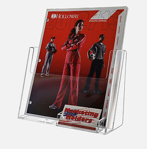 8 5 X 11 Magazine Brochure Display With Business Card Holder Clear Acrylic