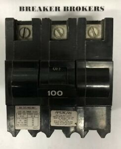 New Fpe Federal Pacific Nb3p100 100 Amp 3 Pole 240v Nb Bolt On Circuit Breaker