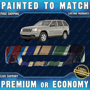 New Painted To Match Front Bumper Cover Fascia For 2008 2010 Jeep Grand Cherokee