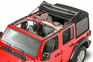 18 20 Jeep Wrangler Jl 4 Door New Black Vinyl Soft Top Complete Kit Mopar Oem