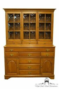 Pennsylvania House Solid Cherry Traditional 56 Buffet W Display China Cabin