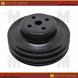 Steel Fits Ford Sb Small Block 1965 1966 Water Pump Pulley 2 Groove Black