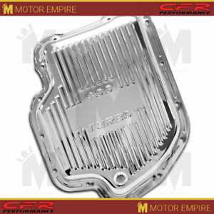 Fits Chevy Gm Turbo Th 400 Steel Transmission Pan Chrome With Drain Plug