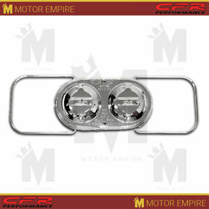 Fits Chevy Gm Oval Master Cylinder Cover Dual Bail Chrome Steel 5 3 4 X 3