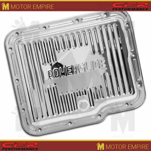 Fits Chevy Gm Powerglide Steel Transmission Pan Chrome With Drain Plug