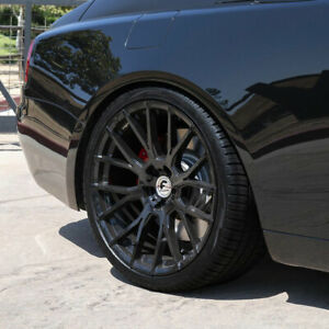 24 Forgiato Flow 001 Black Forged Concave Wheels Rims Fit Rolls royce Ghost