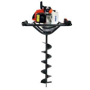 2 5hp 63cc Epa Gas powered Earth Post Hole Digger With 6 Digging Auger Bit