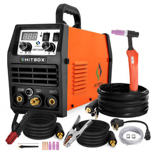 Hitbox Tig Welder 110v 200v Double Voltage Mma Tig200a Welding Machine Portable
