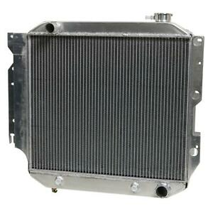 Summit Racing Radiator Direct Fit Aluminum Downflow Fits Jeep Each 380464