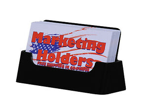 Black Business Card Holder Display Stand Counter Table Top Acrylic