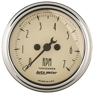 Autometer 1897 Tachometer With Electric Air core 2 0625 0 7000 Rpm