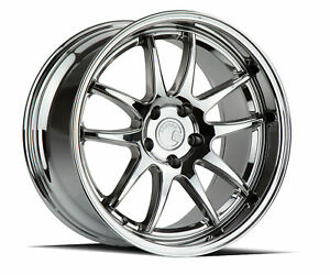 19x9 5 11 Aodhan Ds02 5x114 3 22 Vacuum Chrome Rims Fits Ford Mustang 350z