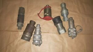 Lot Of Parker And Other Pneumatic hydraulic Quick Disconnect Couplings fittings