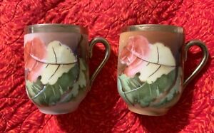 Great Buy Set Of 2 Antique Oscar Edgar Gutherz O Eg Royal Austria Tea Cups