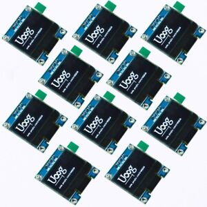 10pcs 0 96in I2c Iic Serial 128x64 White Oled Display Module Ssd1306 For Arduino