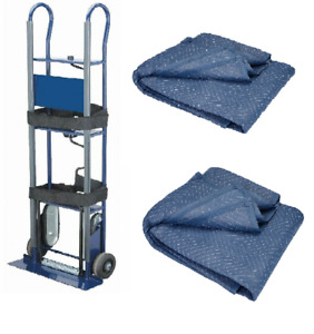 600lb Moving Appliance Dolly Hand Truck Stair Climber With Two 72 X 80 Blanket