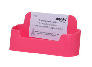 Business Gift Or Appointment Card Holder Pink Display Tabletop Qty 24