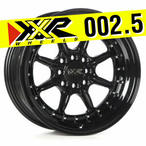 Xxr 002 5 16x8 4x100 4x114 3 0 Full Gloss Black Wheels set Of 4