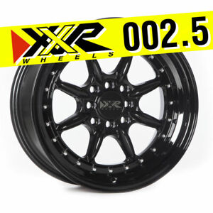 Xxr 002 5 16x8 4x100 4x114 3 20 Full Gloss Black Wheels set Of 4