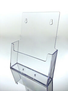 Brochure Holder 6 Inch Booklet Wall mount Acrylic Bi fold Stand Usa Qty 24