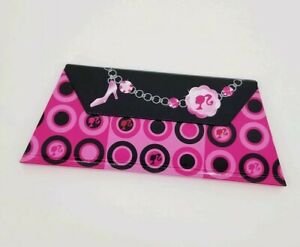 Small Barbie Theme Note Pad Clutch Purse Shape Office Desk Accessory Pink New