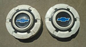 1969 72 Chevrolet Truck Painted White Black Hubcaps Set Of 2 Dog Dish
