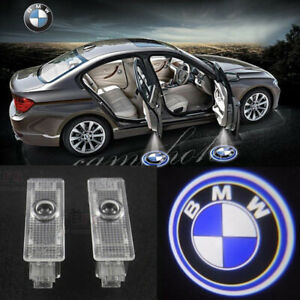 2x Door Led Courtesy Welcome Laser Projector 3d Logo Ghost Shadow Light For Bmw