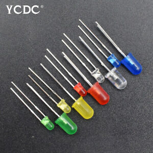 100pcs lot Led Lights Emitting Diodes Ultra Bright Leds Diode Kits Lamps 3mm 5mm
