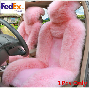 1pcs Genuine Australian Sheepskin Fur Car Front Seat Cover Cushion Long Wool Fur