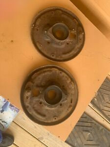 1959 Ford 1 2 Ton Truck Custom Cab Front Brake Backing Plate Assemblies Left And