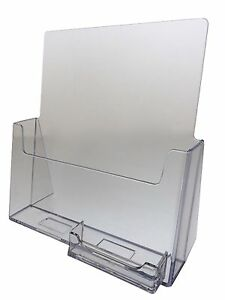 8 5 X 11 Brochure Holders With Business Card Holder Wholesale Acrylic Qty 10