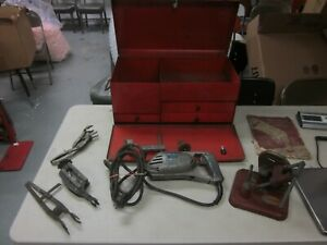 Snap On Valve Seat Grinder Grinding Set Complete Blue Point Working Condition