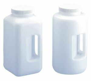 Lab Safety Supply 49h023 Square Bottle wide Mouth Bottle 1 05 Gal