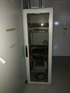 Short Telecom Server Cabinet Enclosures By Hoffman 23 x24 x72 Tall W Fan