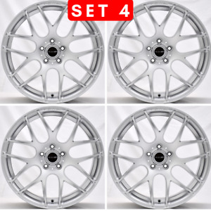 18 Inch M3 Csl Style Hyper Silver Wheels Rims Fits Bmw F32 F33 F30 Staggered